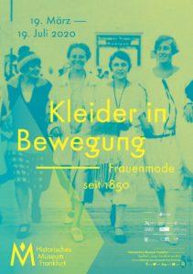 Plakat, Kleider in Bewegung © HMF (Historische Museum von Frankfurt am Main)